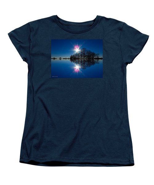 Starflection Women's T-Shirt (Standard Cut) by Nick Kirby