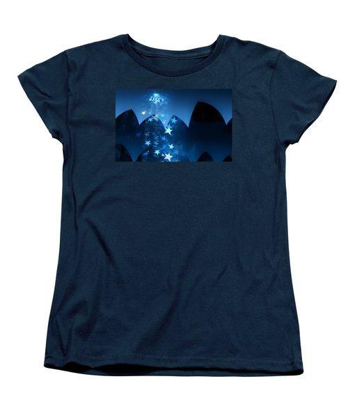 Women's T-Shirt (Standard Cut) featuring the digital art Starry Night by GJ Blackman