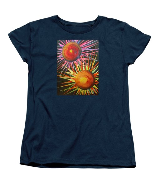 Women's T-Shirt (Standard Cut) featuring the painting Stars With Colors by Chrisann Ellis