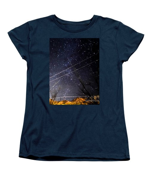 Stars Drunk On Lightpaint Women's T-Shirt (Standard Cut) by Angela J Wright
