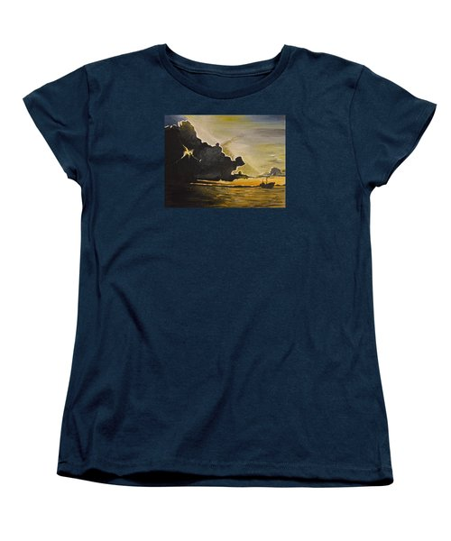 Staying Ahead Of The Storm Women's T-Shirt (Standard Cut) by Donna Blossom