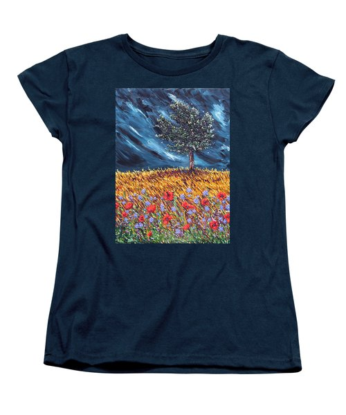 Women's T-Shirt (Standard Cut) featuring the painting Steadfast Love by Meaghan Troup