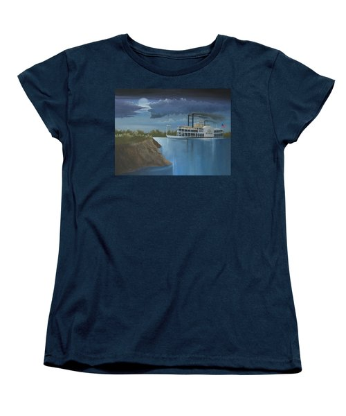 Steamboat On The Mississippi Women's T-Shirt (Standard Cut) by Stuart Swartz