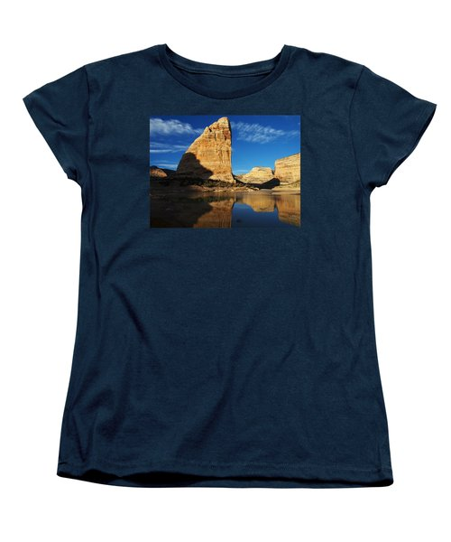 Steamboat Rock In Dinosaur National Monument Women's T-Shirt (Standard Cut) by Nadja Rider