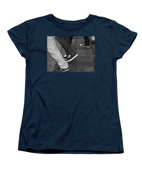 Women's T-Shirt (Standard Cut) featuring the photograph Stepping Out by Clare Bevan