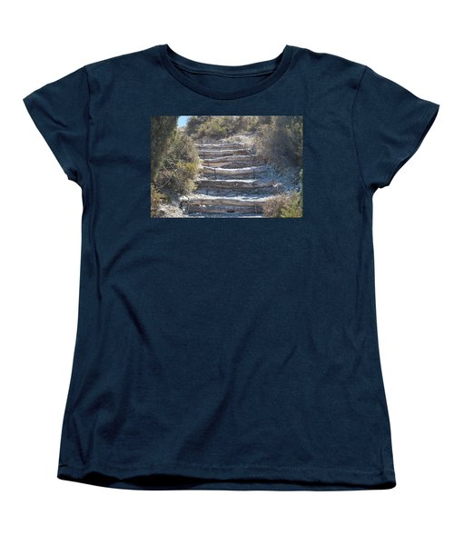Steps In The Woods Women's T-Shirt (Standard Cut) by George Katechis