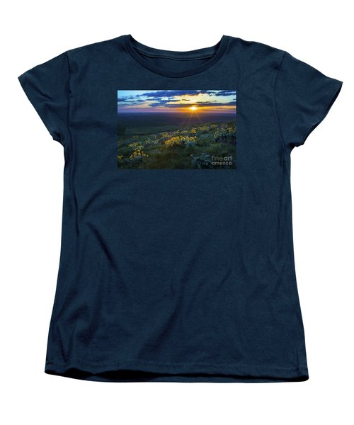 Steptoe Sunset Women's T-Shirt (Standard Cut) by Sonya Lang