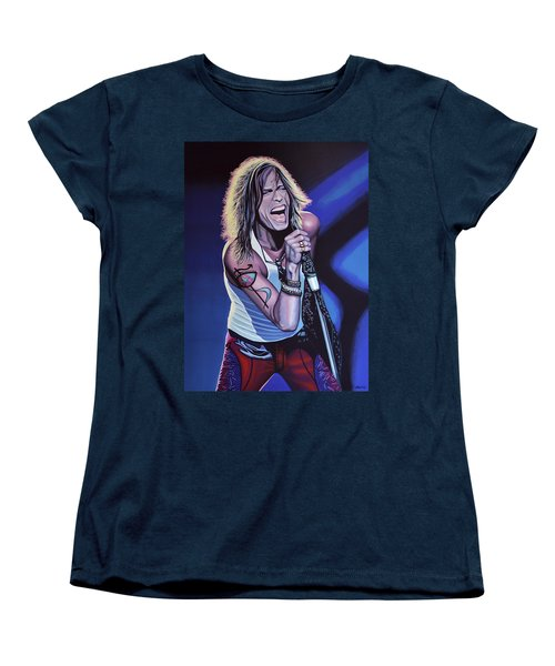 Steven Tyler 3 Women's T-Shirt (Standard Cut) by Paul Meijering