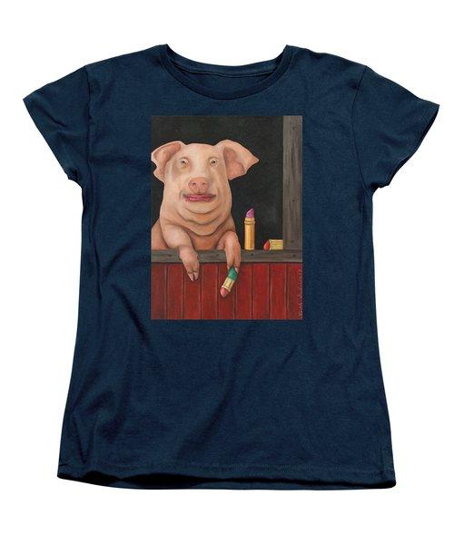 Still A Pig Women's T-Shirt (Standard Cut) by Leah Saulnier The Painting Maniac