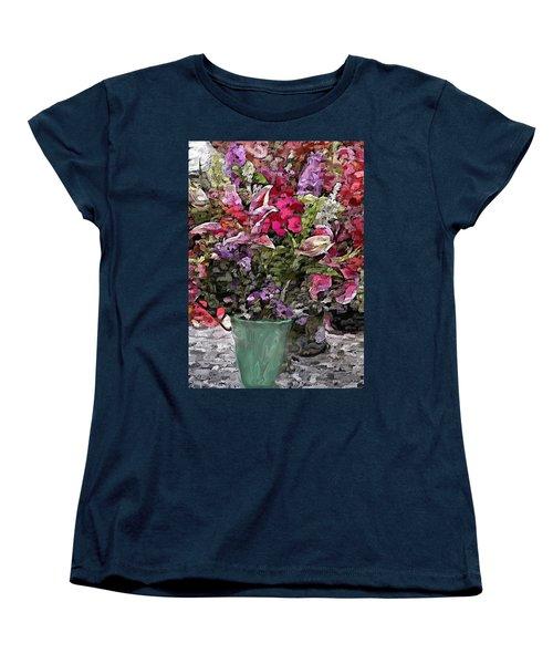 Women's T-Shirt (Standard Cut) featuring the digital art Still Life Floral by David Lane