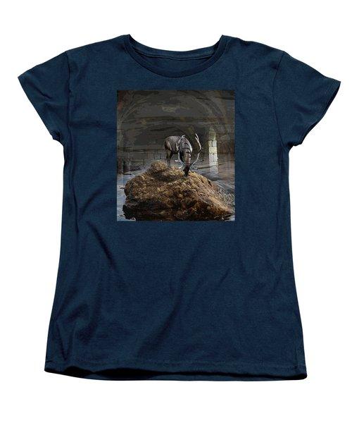 Stillness Women's T-Shirt (Standard Cut) by Yvonne Wright