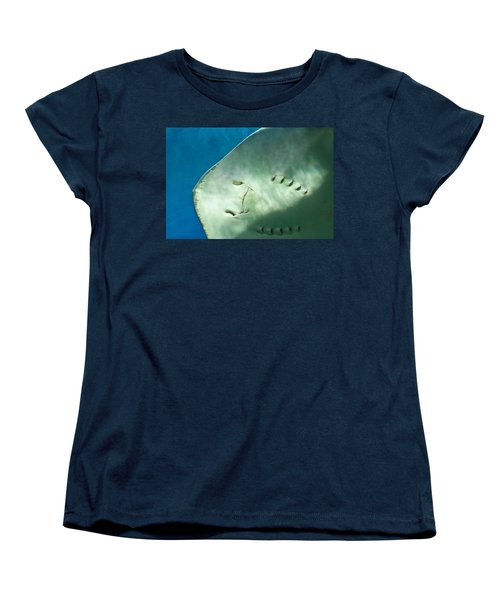 Women's T-Shirt (Standard Cut) featuring the photograph Stingray Face by Eti Reid