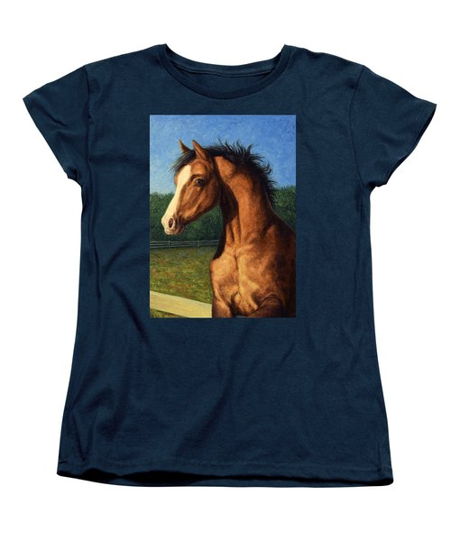 Women's T-Shirt (Standard Cut) featuring the painting Stir Crazy by James W Johnson