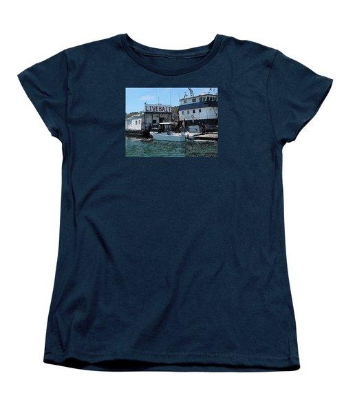 Stocking Up On Live Bait Women's T-Shirt (Standard Cut) by Cedric Hampton