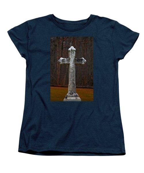 Stone Cross Women's T-Shirt (Standard Cut) by Rowana Ray