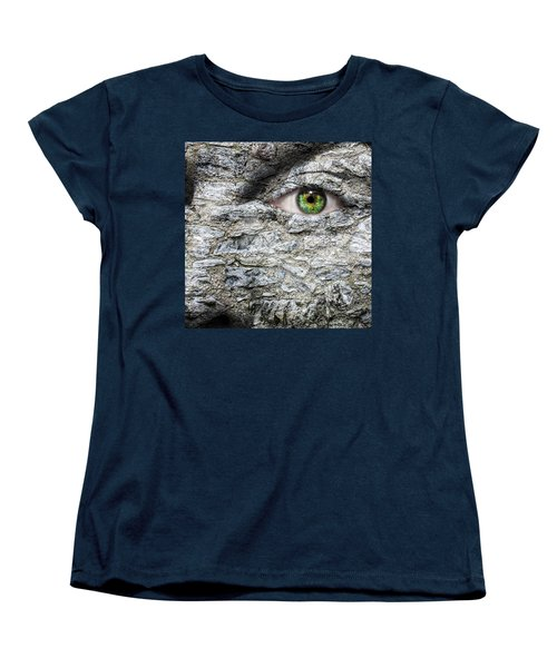 Stone Face Women's T-Shirt (Standard Cut) by Semmick Photo