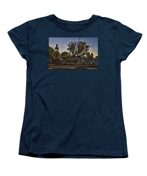 Women's T-Shirt (Standard Cut) featuring the photograph Stopped At Chama by Priscilla Burgers