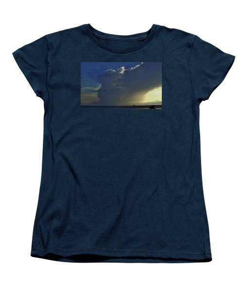 Women's T-Shirt (Standard Cut) featuring the photograph Storm Across Delaware Bay by Ed Sweeney
