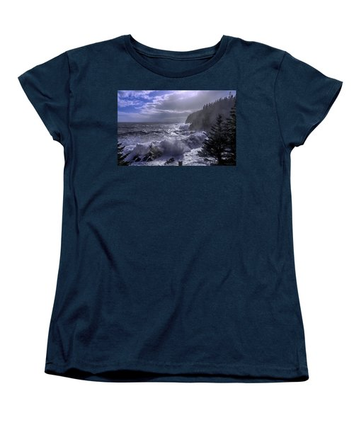 Women's T-Shirt (Standard Cut) featuring the photograph Storm Lifting At Gulliver's Hole by Marty Saccone