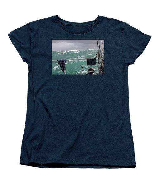 Storm On Tasman Sea Women's T-Shirt (Standard Cut) by Jola Martysz