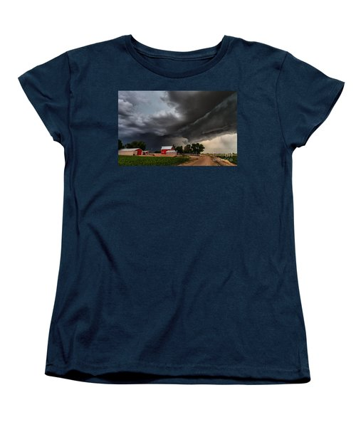 Storm Over The Farm Women's T-Shirt (Standard Cut) by Steven Reed