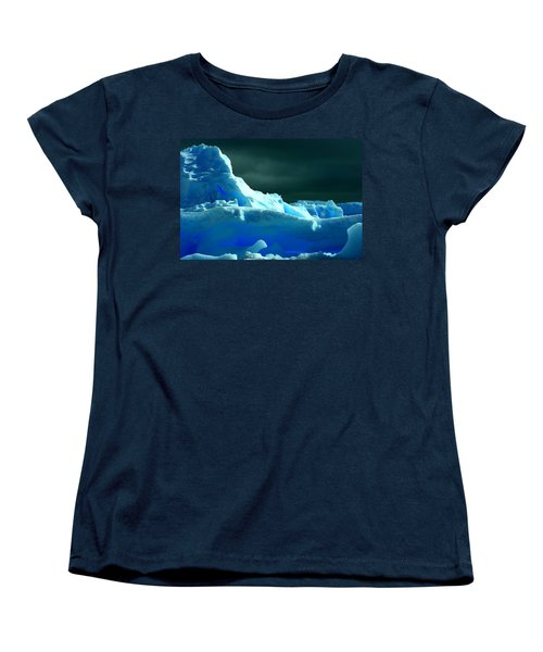 Women's T-Shirt (Standard Cut) featuring the photograph Stormy Icebergs by Amanda Stadther