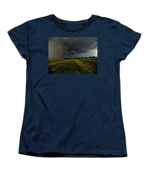 Stormy Road Ahead Women's T-Shirt (Standard Cut) by Ed Sweeney
