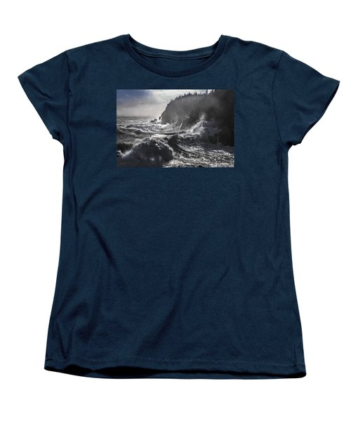 Stormy Seas At Gulliver's Hole Women's T-Shirt (Standard Cut) by Marty Saccone