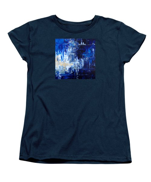 Stormy Waves Women's T-Shirt (Standard Cut) by Rebecca Davis