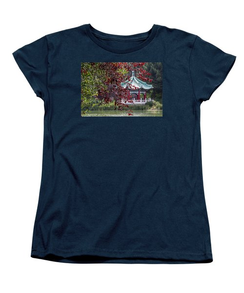 Stow Lake Pavilion Women's T-Shirt (Standard Cut) by Kate Brown