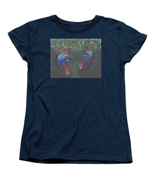 Women's T-Shirt (Standard Cut) featuring the drawing Strange Birds by Arlene Crafton