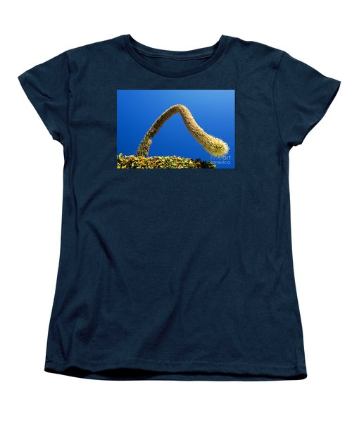 Women's T-Shirt (Standard Cut) featuring the photograph Strange Plant Under Blue Sky by Yew Kwang