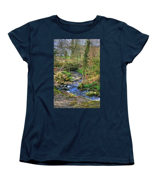 Women's T-Shirt (Standard Cut) featuring the photograph Stream In Wales by Doc Braham