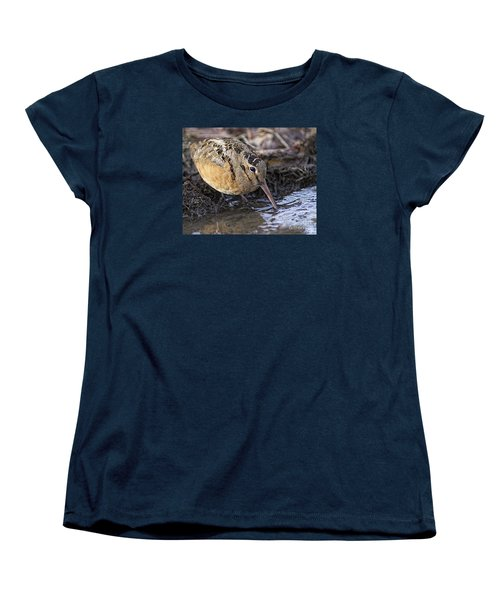 Streamside Woodcock Women's T-Shirt (Standard Cut) by Timothy Flanigan
