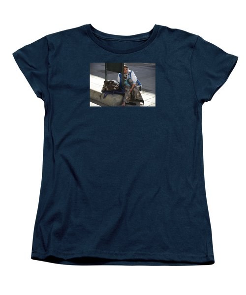 Women's T-Shirt (Standard Cut) featuring the photograph Street People - A Touch Of Humanity 10 by Teo SITCHET-KANDA