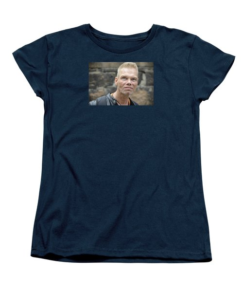 Women's T-Shirt (Standard Cut) featuring the photograph Street People - A Touch Of Humanity 3 by Teo SITCHET-KANDA