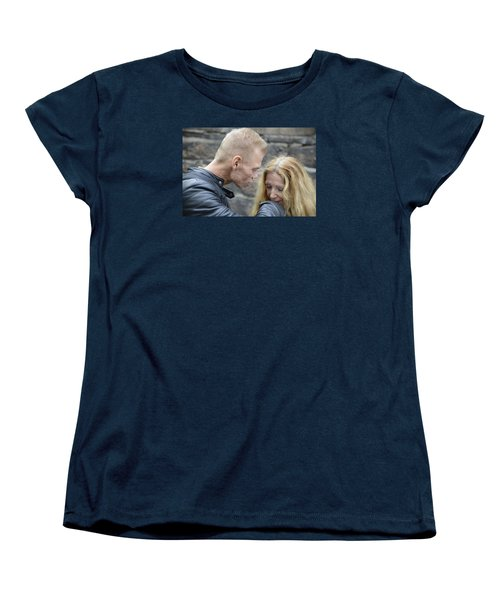 Women's T-Shirt (Standard Cut) featuring the photograph Street People - A Touch Of Humanity 4 by Teo SITCHET-KANDA