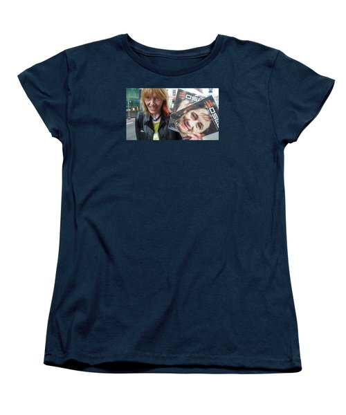 Women's T-Shirt (Standard Cut) featuring the photograph Street People - A Touch Of Humanity 6 by Teo SITCHET-KANDA