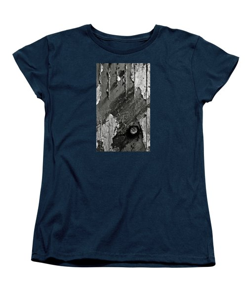 Stripping Hull Of An Old Abandoned Ship Women's T-Shirt (Standard Cut) by RicardMN Photography
