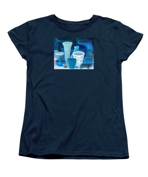 Study In Blue Women's T-Shirt (Standard Cut) by Katherine Young-Beck