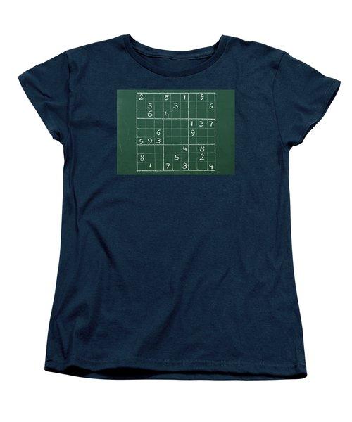 Sudoku On A Chalkboard Women's T-Shirt (Standard Cut)