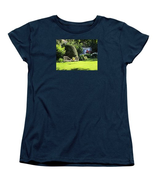Women's T-Shirt (Standard Cut) featuring the photograph Summer Garden by Jieming Wang