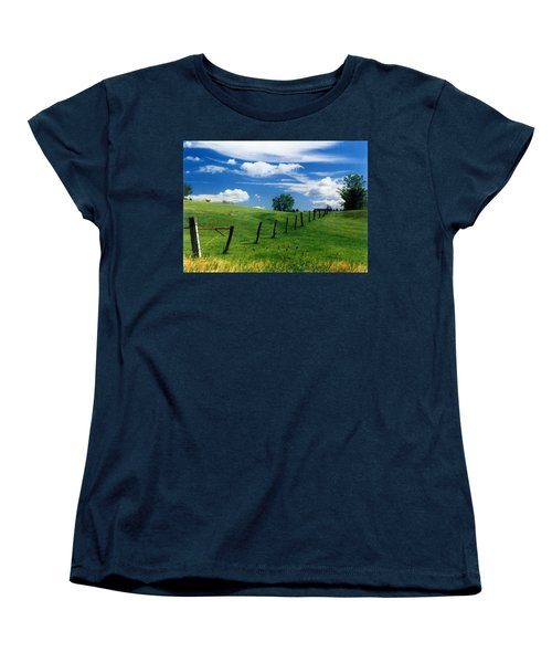 Summer Landscape Women's T-Shirt (Standard Cut) by Steve Karol