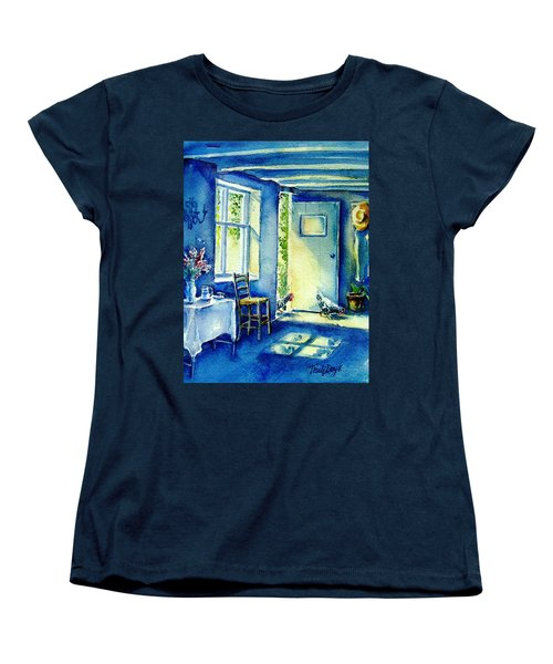 Women's T-Shirt (Standard Cut) featuring the painting Summer Morning Visitors  by Trudi Doyle