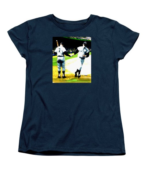 Summer Of The Gods  Iv 1961 Mickey Mantle Women's T-Shirt (Standard Cut) by Iconic Images Art Gallery David Pucciarelli