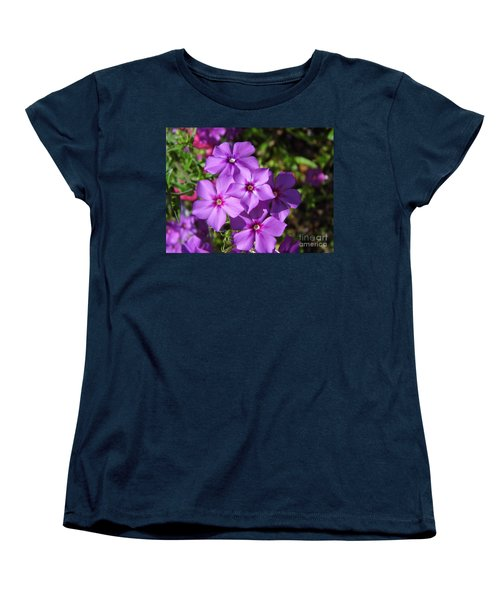 Women's T-Shirt (Standard Cut) featuring the photograph Summer Purple Phlox by D Hackett