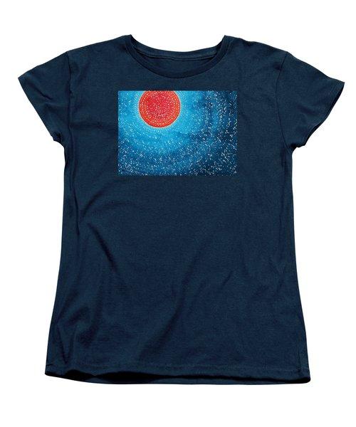 Summer Sun Original Painting Women's T-Shirt (Standard Cut) by Sol Luckman