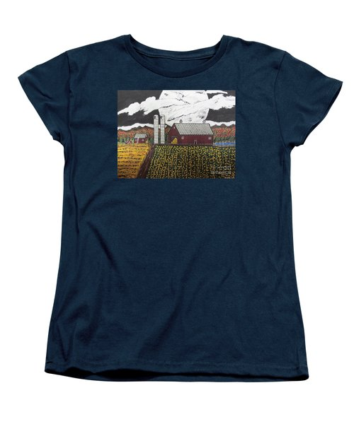 Sun Flower Farm Women's T-Shirt (Standard Cut) by Jeffrey Koss
