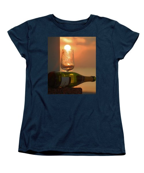 Women's T-Shirt (Standard Cut) featuring the photograph Sun In Glass by Leticia Latocki