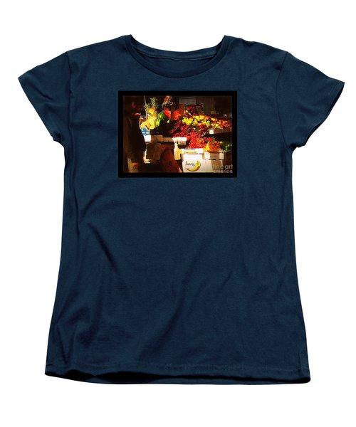 Sun On Fruit Women's T-Shirt (Standard Cut) by Miriam Danar